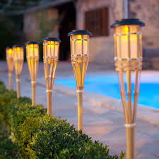 outdoor torch lighting. zoom 2 large solar bamboo tiki garden torches outdoor torch lighting t