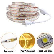 <b>LED Strip 220V</b> Light SMD <b>5050</b> 60leds/m Waterproof IP67 Tape ...