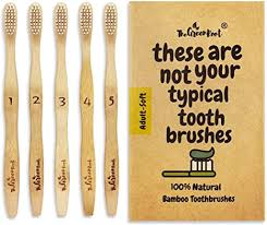 Natural Classic Bamboo Toothbrushes (Pack of 5) for ... - Amazon.com