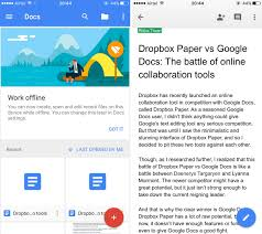 dropbox paper vs google docs which is better for online winner google docs