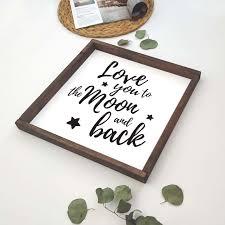 <b>Декоративное</b> панно с <b>надписью LOVE</b> YOU TO THE MOON ...