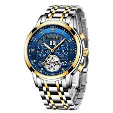 LIGE Mens Watches Top Brand Luxury <b>Automatic Mechanical</b> Watch ...