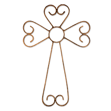 iron wall cross love: bronze tinted wrought iron wall cross from guatemala unconditional love in bronze novica