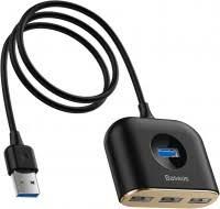 <b>BASEUS Square</b> Round 4 in 1 <b>USB</b> HUB Adapter (CAHUB-AY01 ...