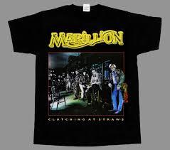 <b>marillion clutching</b> at straws short - long sleeve new black t-shirt