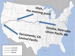 「the Union Pacific and Central Pacific railroads」の画像検索結果