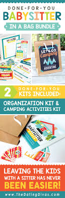 babysitter activities for kids camping edition babysitter in a bag bundle