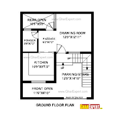 House Plan for Feet by Feet plot  Plot Size Square Yards    House Plan for Feet by Feet plot  Plot Size Square Yards