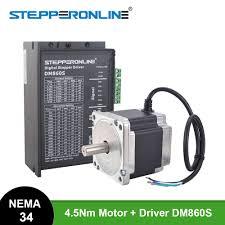 <b>1 Axis</b> Nema 34 Stepper <b>CNC Kit</b> 4.5Nm 86 Motor 5.2A Nema34 ...