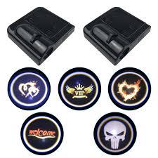 <b>1pcs Universal Car</b> Door Welcome Logo Light Wireless Projector ...