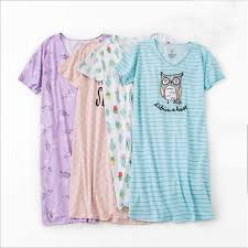 <b>2019 Summer</b> Plus size Sleepshirt Women Cartoon <b>nightgown</b> soft ...