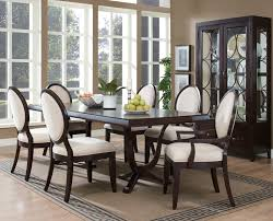 Traditional Dining Room Chairs Traditional Seven Piece Dining Set With Round Backed Chairs
