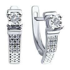 <b>Серьги</b> из белого золота с бриллиантами <b>SOKOLOV</b> – купить в ...