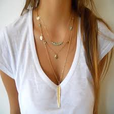 2016 New Boho Simple Chain Gold/Silver Plated Tassels Turquoise ...