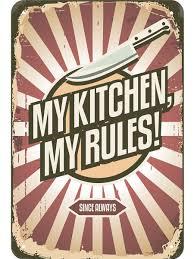 <b>Табличка</b> / <b>Табличка</b> металлическая / Картина My <b>kitchen</b>, 20x30 ...