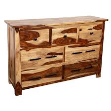 Loon Peak® Marissa <b>Solid Sheesham</b> Wood 7 Drawer Dresser ...