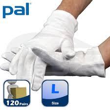 Case of PAL Cotton Serving Gloves - Large (10 x <b>12 pairs</b>) - <b>Food</b> ...