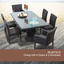 brown rustico rectangular outdoor patio dining chestnut brown rustico rectangular outdoor patio dining table with  ch