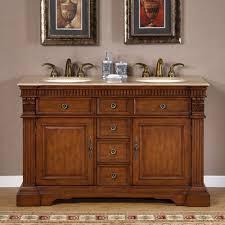 55 inch double sink bathroom vanity:  inch furniture style double sink bathroom vanity