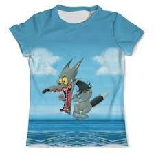 """Мужские футболки c неординарными принтами """"волчонок"""" - <b>Printio</b>"""