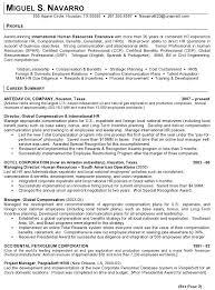 Resume Sample 8 - International Human Resource Executive resume ... Resume Sample - International Human Resources Executive Page 1