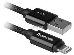 <b>Аксессуар Defender</b> ACH01-03T Pro USB2.0 <b>AM</b> - Lightning 1.0<b>m</b> ...