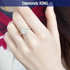 <b>Fashion Square Diamond</b> Luxury Elegance Wedding Ring | Shopee ...