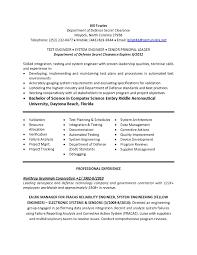 system engineer resume summary senior system engineer resume sample