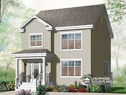 House plan W detail from DrummondHousePlans comfront   BASE MODEL storey  bedroom American style home plan  open floor