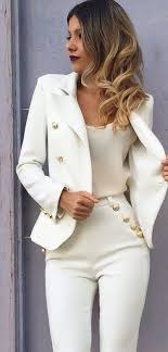 White cream ensemble | Fashion, Casual outfits, Clothes