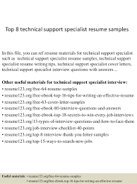 top  technical support specialist resume samplestop  technical support specialist resume samples in this file  you can ref resume materials