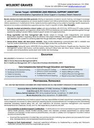 resume examples cv sample resume templates rso resumes 6 military transition to lead medical support assistant