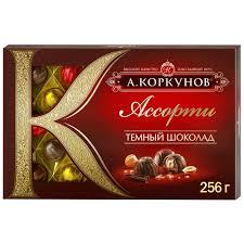 """<b>Шоколадные конфеты</b> А.Коркунов """"Ассорти"""" из темного и ..."""
