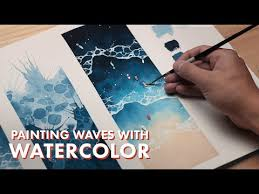 <b>WATERCOLOR</b> TUTORIAL // How to Paint Waves - YouTube