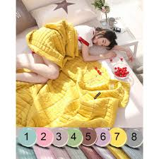 japan style cotton quilt bedspread for double bed summer comforter soft blanket adult twin queen size couple cover
