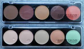 make up forever 5 camouflage cream palette thoughts peace love and glitter