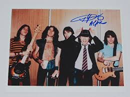 Angus Young <b>AC</b>/<b>DC Highway</b> to Hell Signed Autographed 8x10 ...