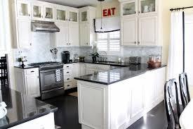 Black White Kitchen Designs Picture Of Small Kitchen Design White Cabinet And Black Countertop