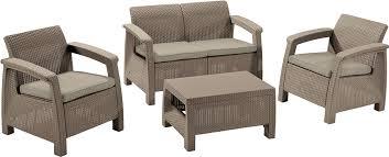 <b>Комплект плетеной мебели Keter</b> Corfu II Set Диван + Стол + ...