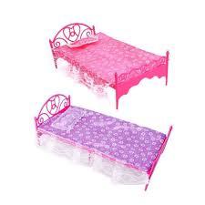 details about fashion plastic bed bedroom furniture fr barbie dolls dollhouse pink hotest barbie bedroom furniture