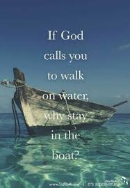 Image result for getting out of the boat and walking on water