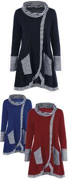 <b>Pinstriped Patchwork Pockets Design</b> Tee   Ropa, Costura, Blusas