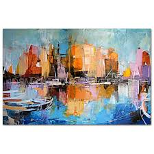 impressionism art work promotion shop for promotional professional artist handmade impression landscape oil painting on canvas abstract city landscape art picture for living room