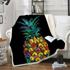 <b>Pineapple Thicken</b> Velvet Plush Throw Blankets for Kid Adult ...