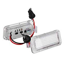 Tuankayuk <b>2pcs LED</b> Rear <b>Number License</b> Plate Lights for Ford ...