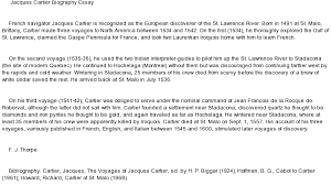 jacques cartier biographical essay at essaypediacom essay on jacques cartier biographical essay
