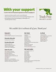 thank you to all of our donors trash maryland want to help us make 2015 even better you can contribute online here or join our email list to learn about more opportunities throughout the year