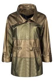 <b>Кожаная куртка MIO CALVINO</b> арт MIOAK10122W_GOLDGREEN ...