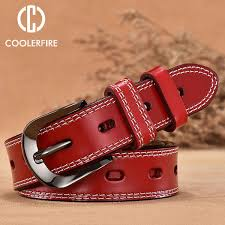 <b>COOLERFIRE</b> New Vintage Style Women Belts <b>Cow Genuine</b> ...