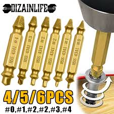 4/5/<b>6 PCS Damaged</b> Screw Extractor Drill Bit Set Stripped Broken ...
